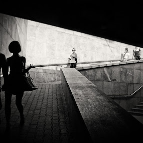 Sofia underground by Mariyan Russev - Black & White Street & Candid ( black and white, street, digital, murski,  )