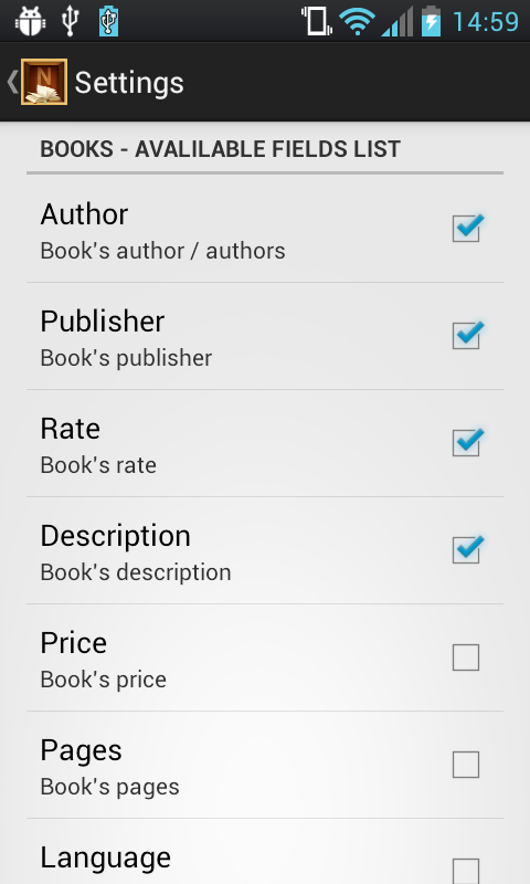 Ninive Library - my books isbn- screenshot