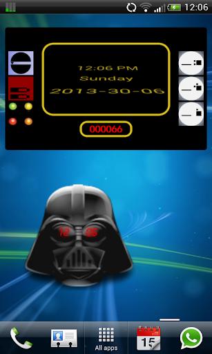 Clock Widget: Star Wars theme