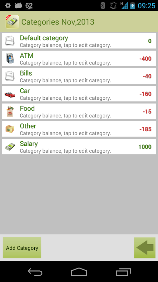 Money Tracker Free - screenshot