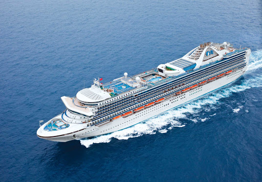 Grand-Princess-at-Sea - Grand Princess specializes in cruises up and down the Pacific coast from California to Alaska.