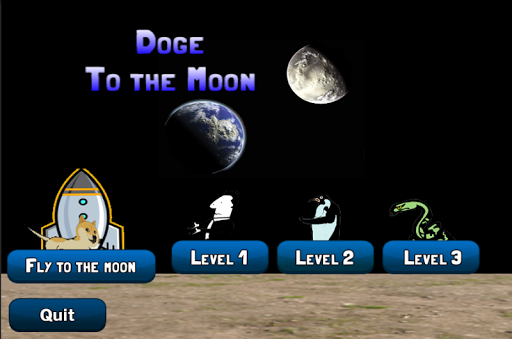 Doge To The Moon Dogecoin Game