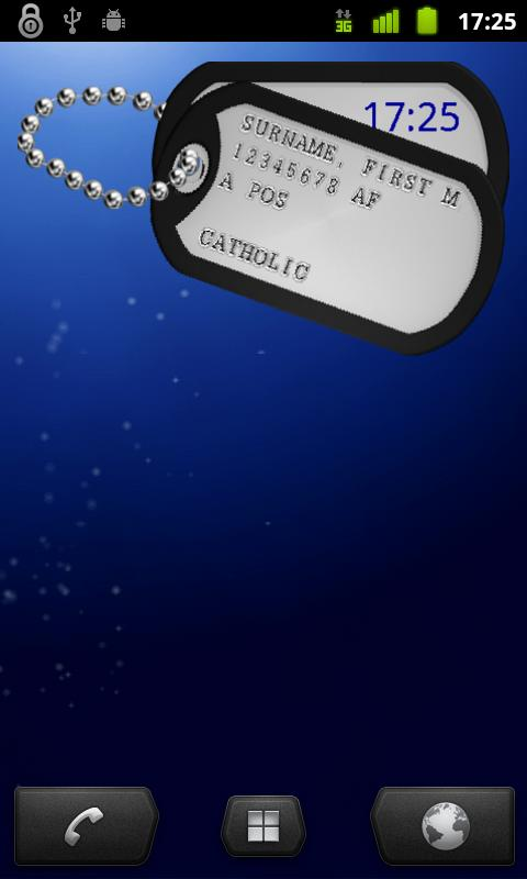 U.S. Military Dog tag  Widget- screenshot