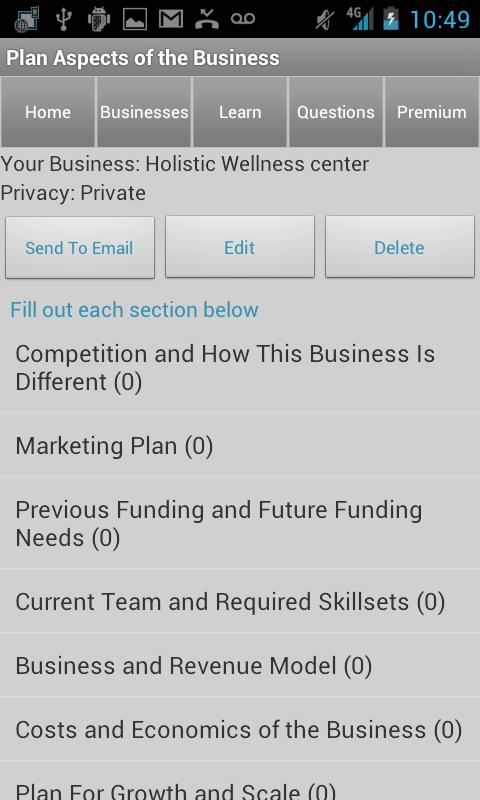 Business Plan & Start Startup- screenshot