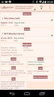Screenshot of RailCal: Availability Calendar