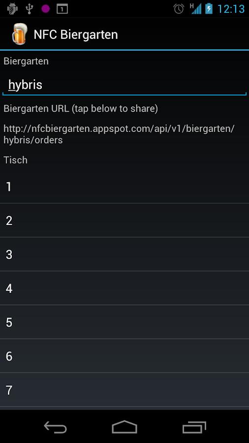 NFC Biergarten- screenshot