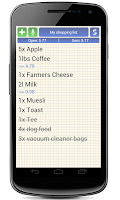 Screenshot of Shopping Grocery List + Widget