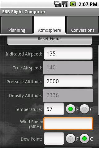 Avilution E6B Flight Computer- screenshot