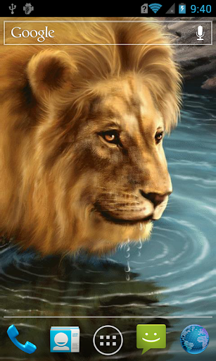 Lion near the water LWP