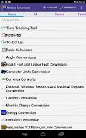 Screenshot of Metric Unit Converter