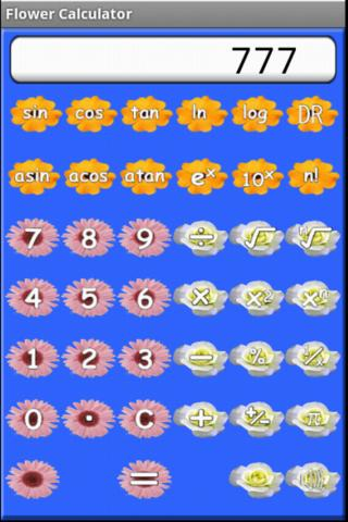 Calculator Flower Gardening HD - screenshot