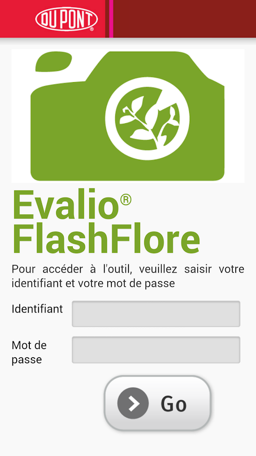 Evalio® FlashFlore – Capture d'écran