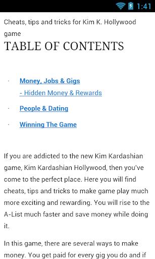 K game tips - pro