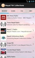 Screenshot of Nepal FM Collections