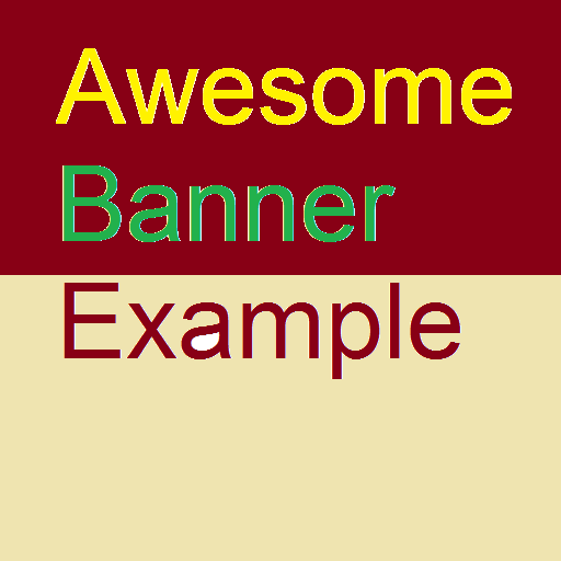 Awesome Banner Example