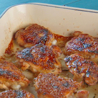 Baked Chicken with Honey-Whole Grain Mustard Glaze.