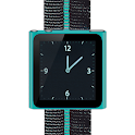 Cyan Nano Wrist Watch Clock logo