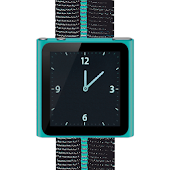 Cyan Nano Wrist Watch Clock