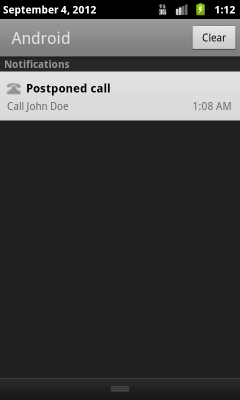 Postphone- screenshot