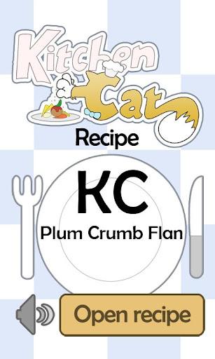 KC Plum Crumb Flan