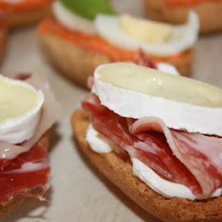 Pinchos with Goat Cheese.