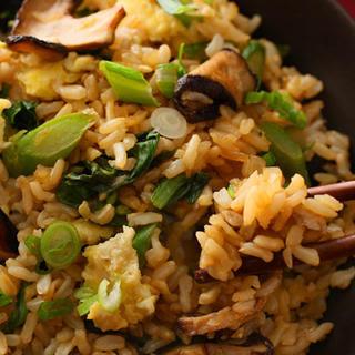 Gai Lan and Shiitake Stir-Fried Brown Rice.
