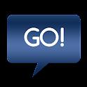 Go SMS Themes: Metallic Blue icon