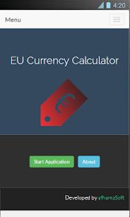 EU Currency Calculator Screenshot 2