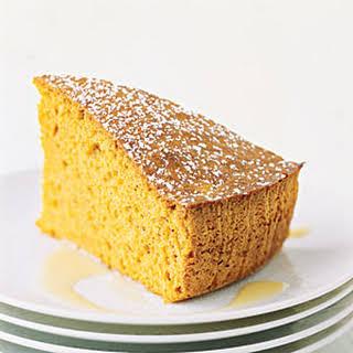 Spiced Sweet-Potato Cake with Custard Sauce.