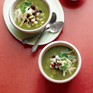 Green Chile Posole with Black Beans.