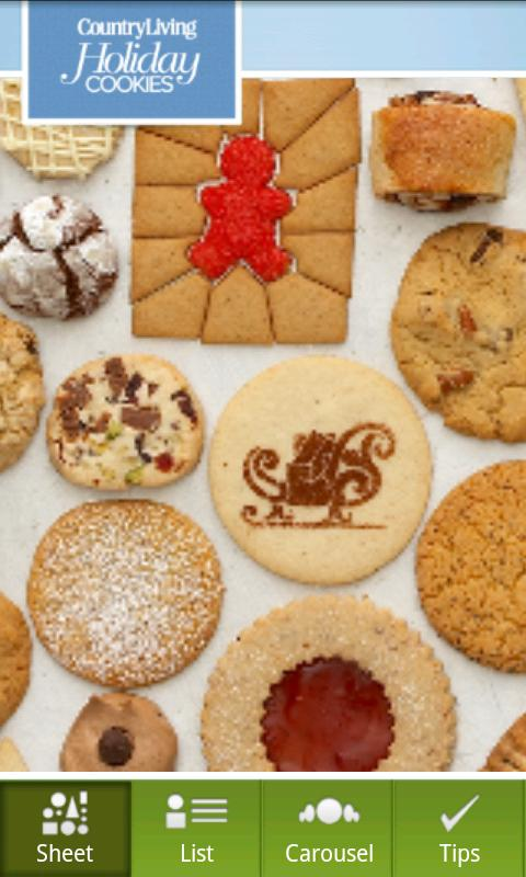 Country Living Holiday Cookies- screenshot