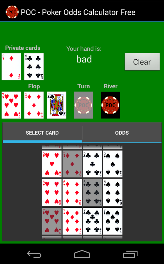poker odds calculator app