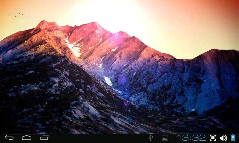 3D Kitkat 4.4 Mountain lwp - screenshot