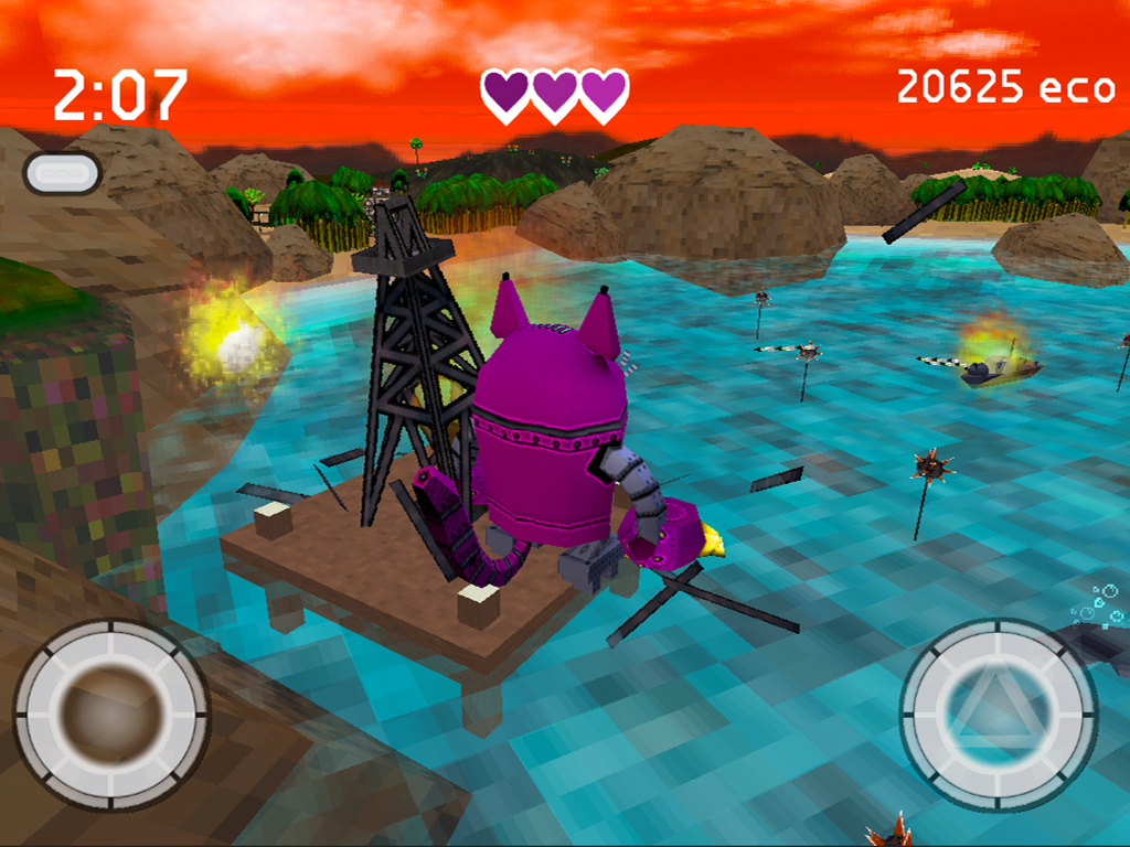 Robocat Rampage- screenshot
