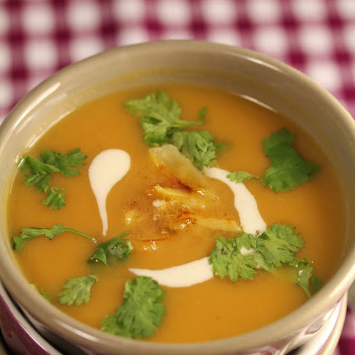 Sweet Potato Apple and Ginger Soup