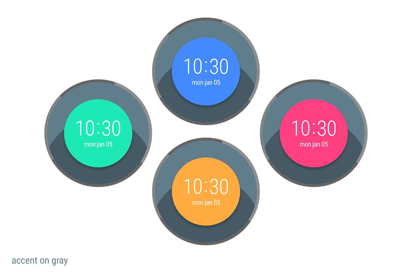 Designer android wear watchface - Bold Watch Face Screenshot