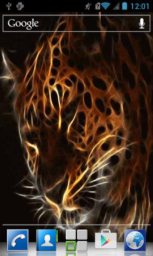 Sparkling tiger in motion LWP