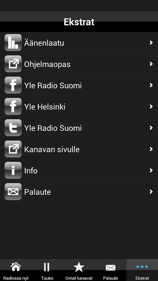 Yle Radio Suomi - screenshot