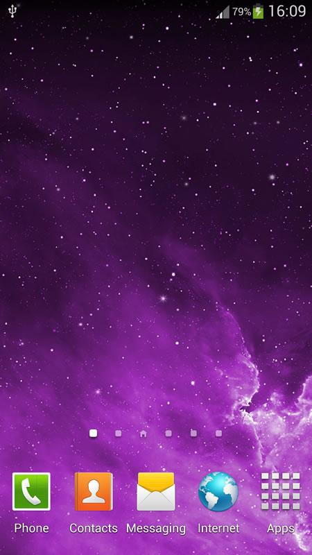 Galaxy Parallax Live Wallpaper - screenshot
