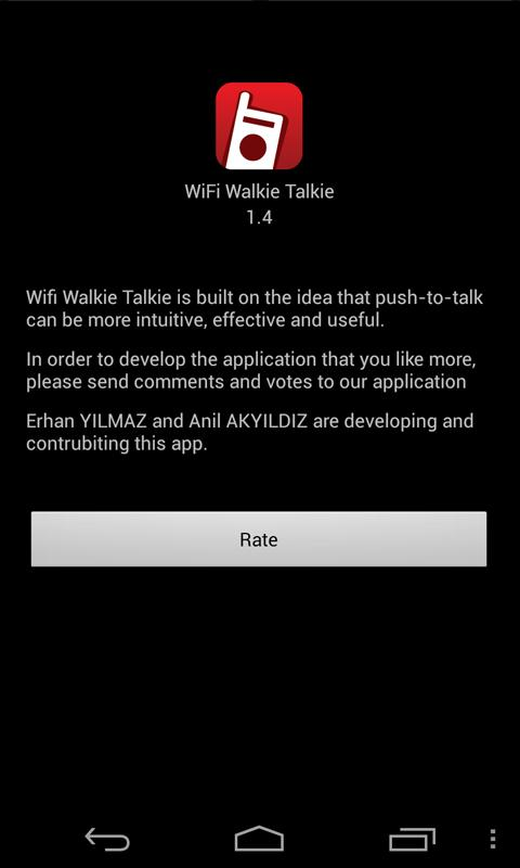 WiFi Walkie Talkie - screenshot