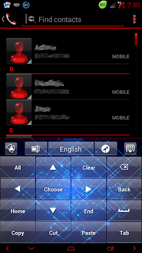 無料个人化Appの青回路のGOキーボードのテーマ|記事Game