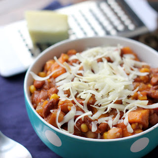 Spicy Three-Bean and Corn Chili