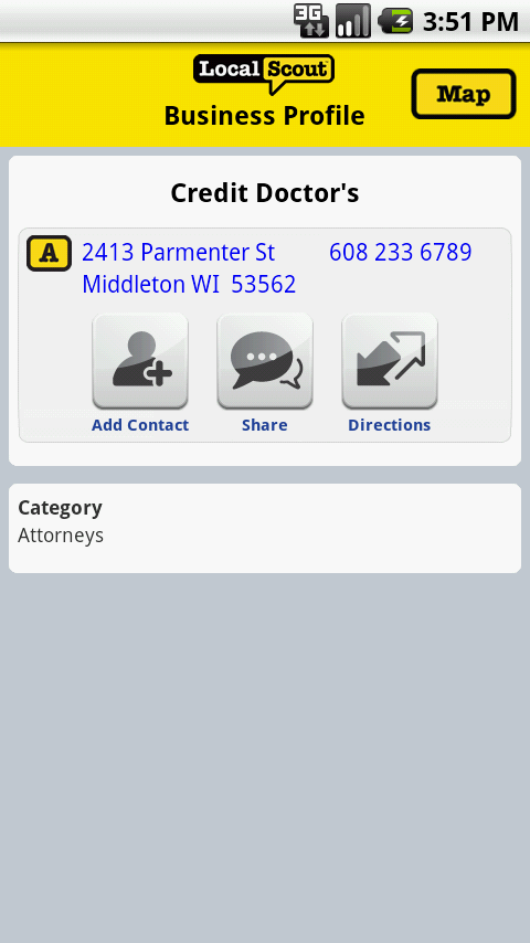 LocalScout Yellow Pages- screenshot
