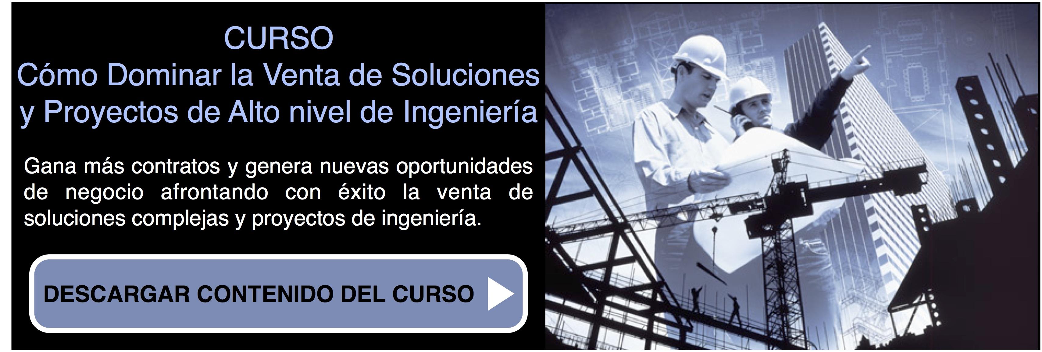 Curso cómo dominar la venta de soluciones y proyectos de ingeniería