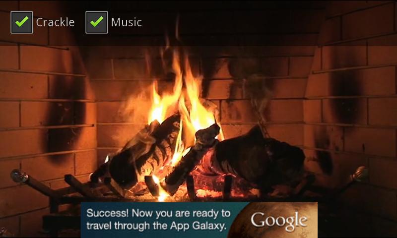Christmas Yule Log - screenshot