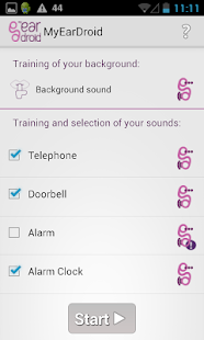MyEarDroid - Sound Recognition – Vignette de la capture d'écran