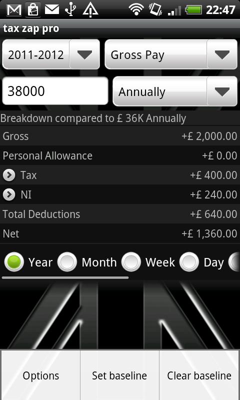 tax zap - UK tax calculator- screenshot