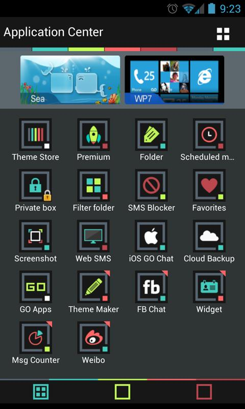 Go SMS Theme Color Minimal - screenshot