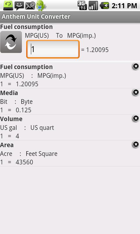 Anthem Unit Converter- screenshot