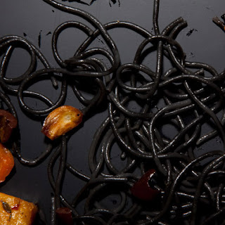 Black and Orange Halloween Pasta